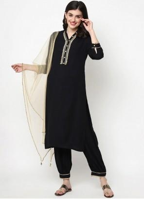 Black Designer Salwar Kameez For Party