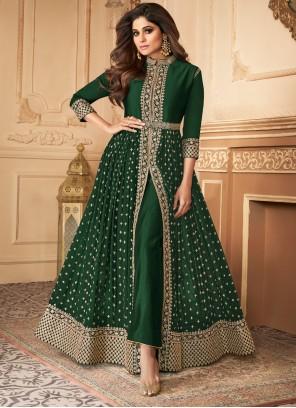 Green Designer Salwar Suit For Engagement