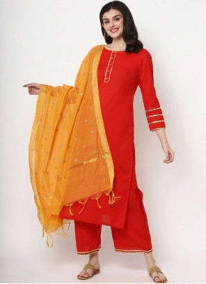 Designer Red Salwar Suit For Festival