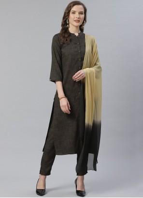 Grey Designer Salwar Suit For Festival