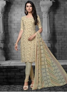 Cream Designer Salwar Suit For Party