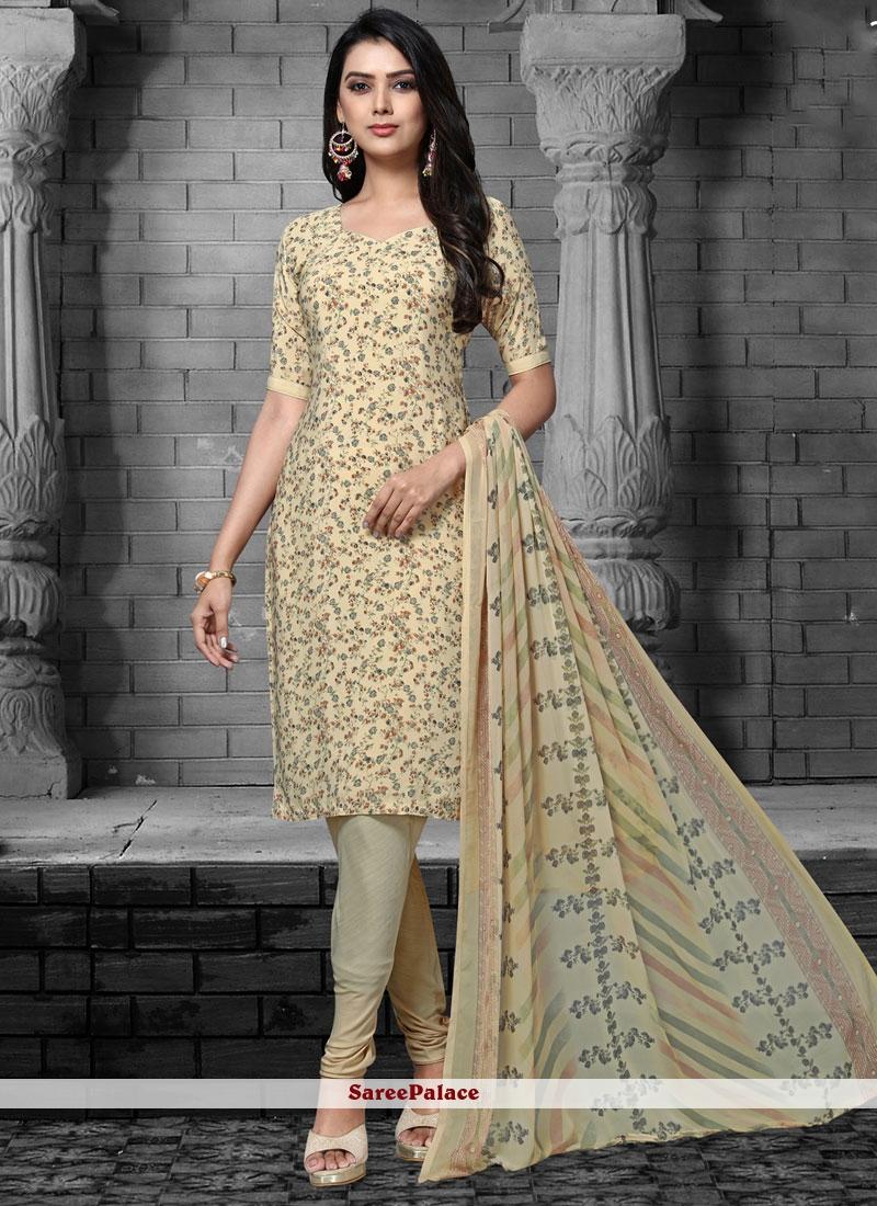 Cream Designer Salwar Suit For Party