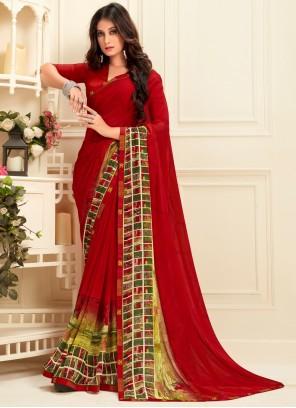 Designer  Multi Colour Saree For Festival