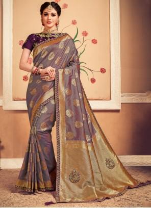 Designer Multi Colour Saree For Party