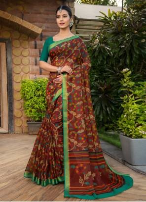 Multi Colour Designer Saree For Party