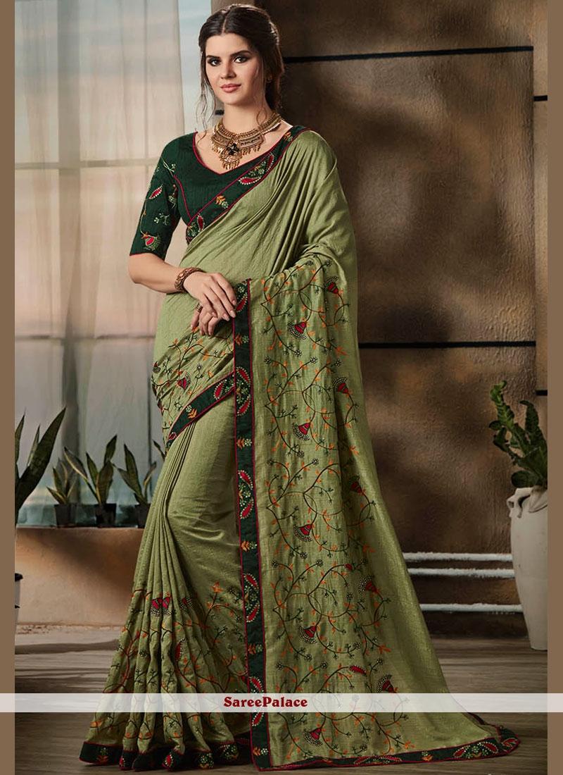 Green Designer Saree For Party