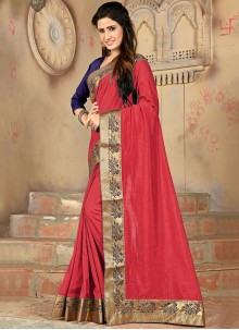 Designer Saree Lace Silk in Red