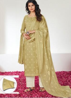 Designer Straight Salwar Kameez For Festival