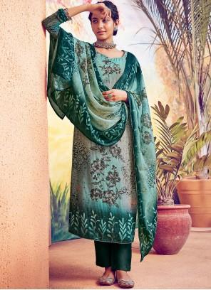 Green Designer Straight Salwar Suit For Festival