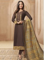 Designer Straight Suit For Party