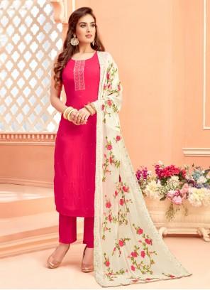 Hot Pink Designer Suit For Engagement