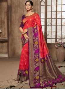 Red Designer Traditional Saree For Bridal