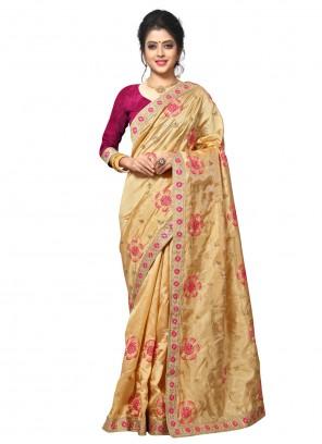 Designer Beige Traditional Saree For Ceremonial