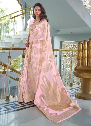Pink Designer Traditional Saree For Ceremonial