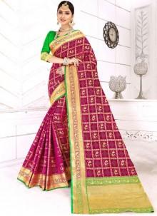 Designer Traditional Saree For Reception