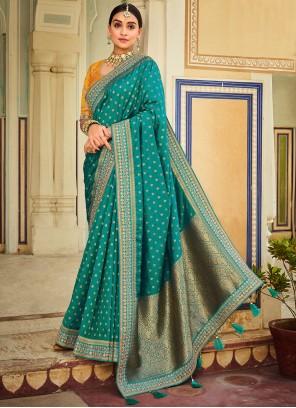 Rama Designer Traditional Saree For Sangeet