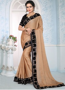 Peach Designer Traditional Saree For Wedding