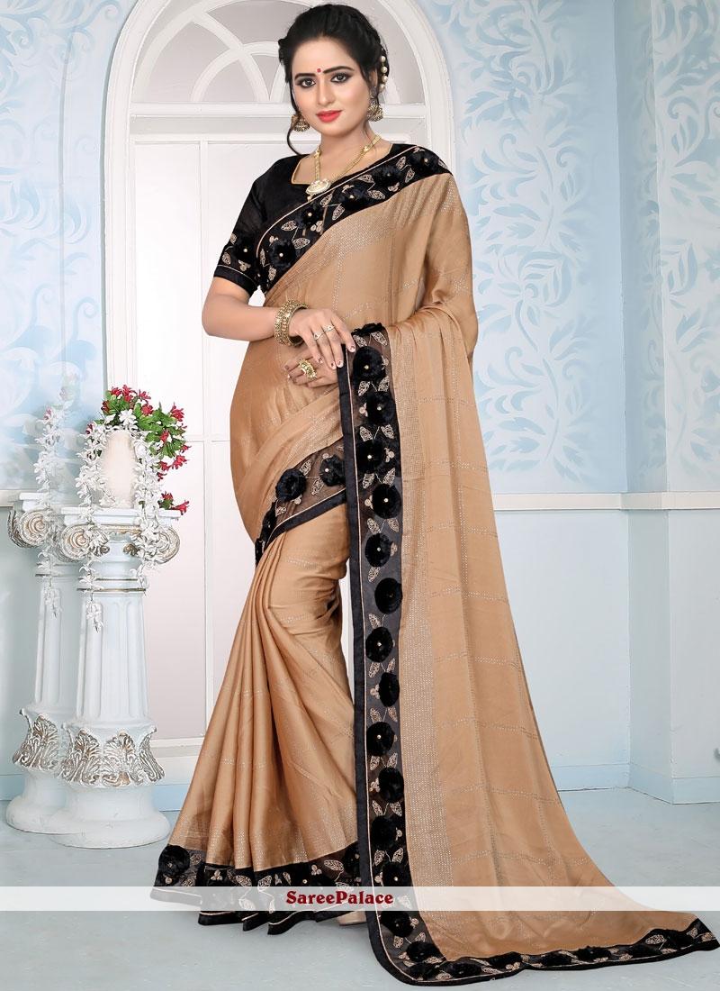 Peach Designer Traditional Saree For Wedding