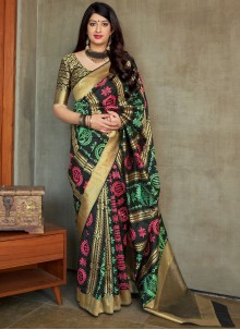 Designer Traditional Saree Weaving Art Silk in Multi Colour