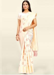 Designer Traditional Saree Weaving Art Silk in Off White