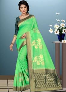Designer Traditional Saree Woven Art Silk in Green