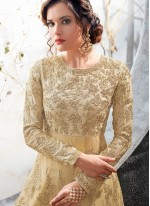 Desirable Embroidered Work Floor Length Anarkali Suit