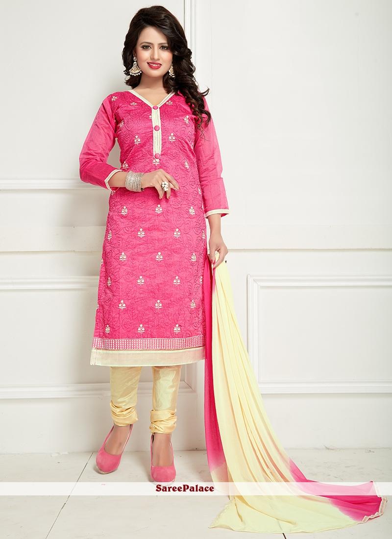 Desirable Pink Churidar Suit