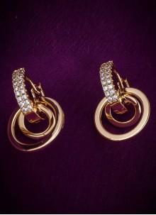 Diamond Ear Rings in Gold