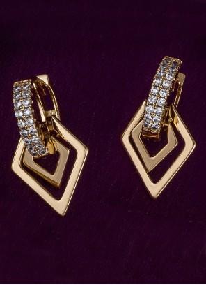 Diamond Gold Ear Rings