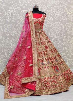 Diamond Silk Pink Lehenga Choli
