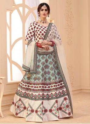 Digital Print Art Silk Multi Colour Lehenga Choli