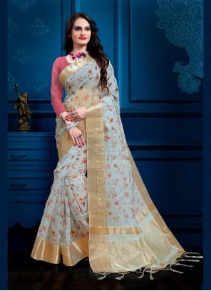 Digital Print Blue Designer Salwar Suit