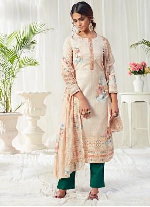 Digital Print Ceremonial Straight Salwar Kameez
