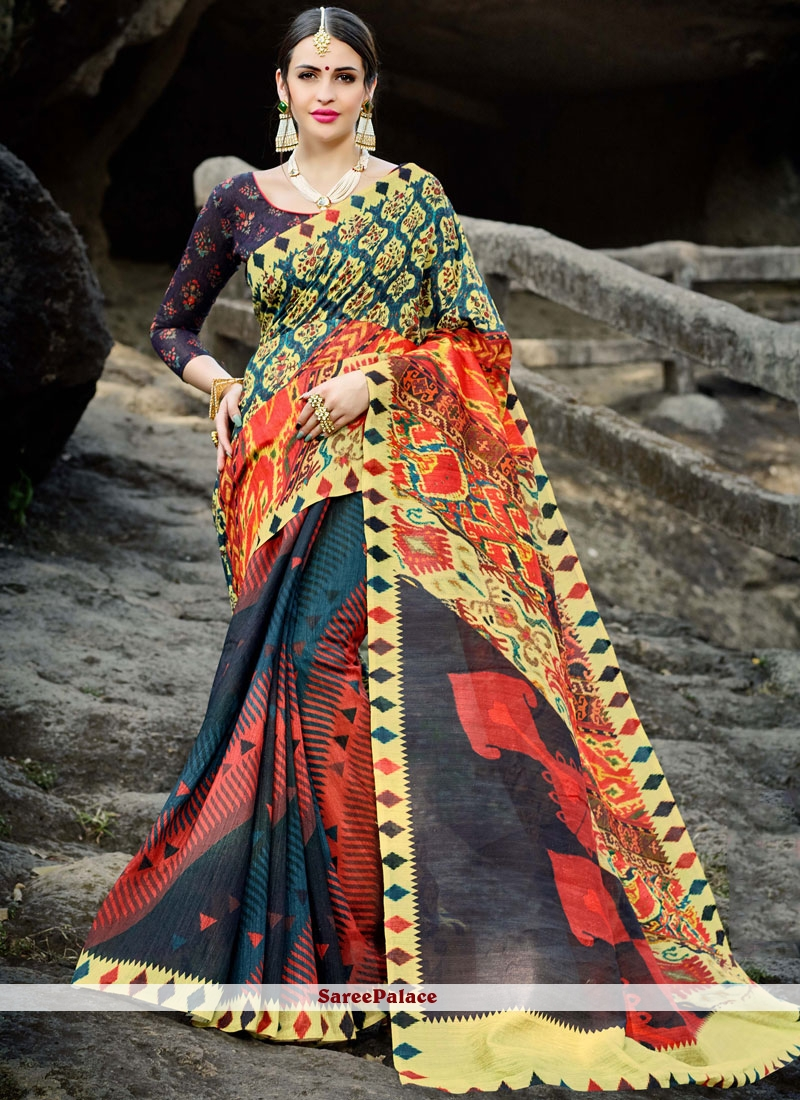 Digital Print Classic Saree
