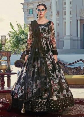 Digital Print Cotton Trendy Gown