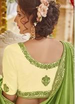 Digital Print Georgette Trendy Saree in Green