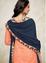 Digital Print Maslin Silk Orange Designer Palazzo Suit