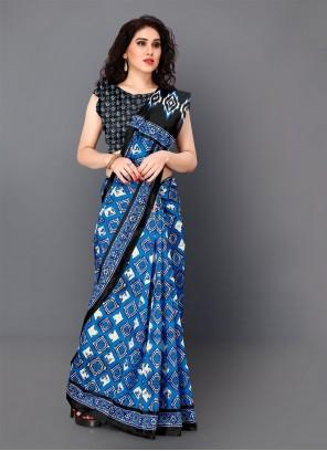 Digital Print Multi Colour Classic Saree