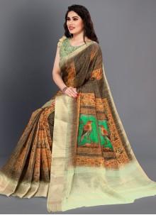 Digital Print Multi Colour Printed Saree