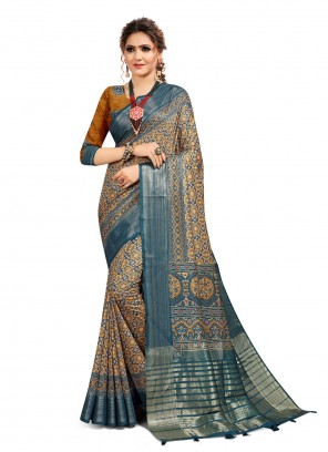 Digital Print Multi Colour South Cotton Printed Saree
