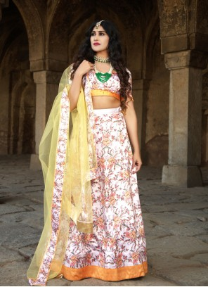 Digital Print Multi Colour Trendy Lehenga Choli