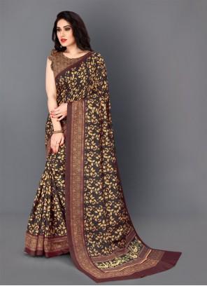 Digital Print Party Multi Colour Traditional Saree