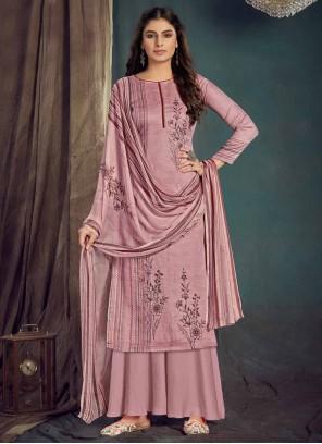 Digital Print Pink Cotton Bollywood Salwar Kameez