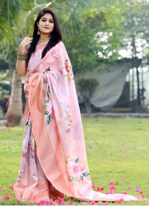 Digital Print Multi Colour Saree