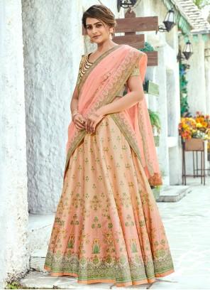 Digital Print Reception Bollywood Multi Colour Lehenga Choli