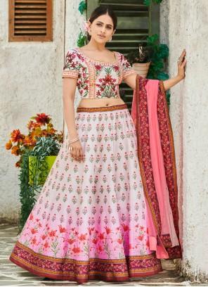 Digital Print Sangeet Trendy Multi Colour Lehenga Choli