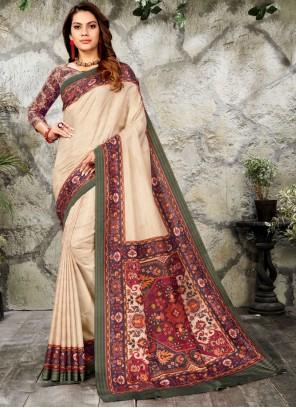 Digital Print Silk Classic Designer Saree