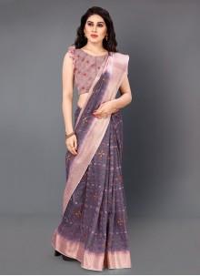 Digital Print Silk Multi Colour Casual Saree