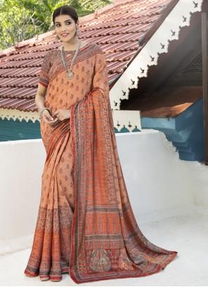 Digital Print Traditional Multi Colour Designer Saree