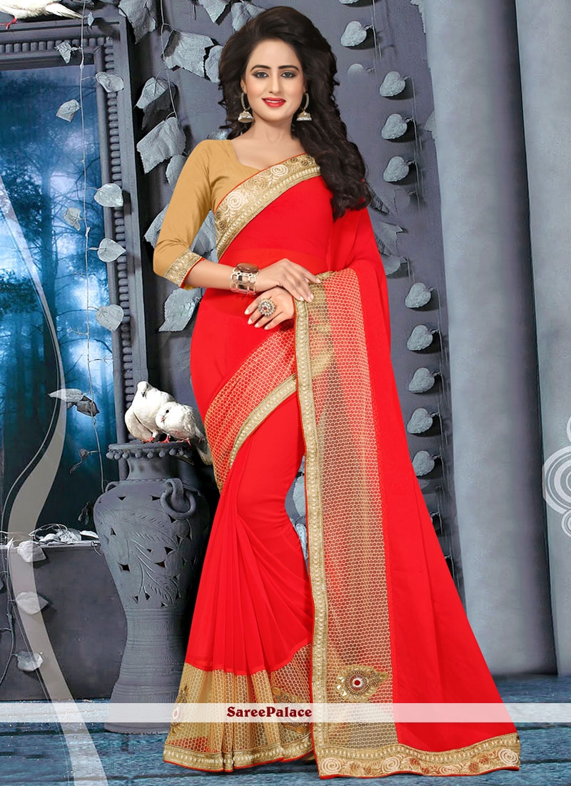 Dignified Red Classic Saree